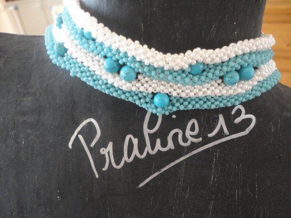 Bracelet en RAW 3D, réalisé il y a quelques mois, que je voulais présenter pour un concours, mais ledit concours n'a pas eu lieu...je vous en fais profiter...les perles sont en turquoises...