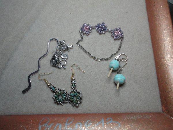 quelques petits cadeaux faites à une amie et sa fille, qui réside au Québec...