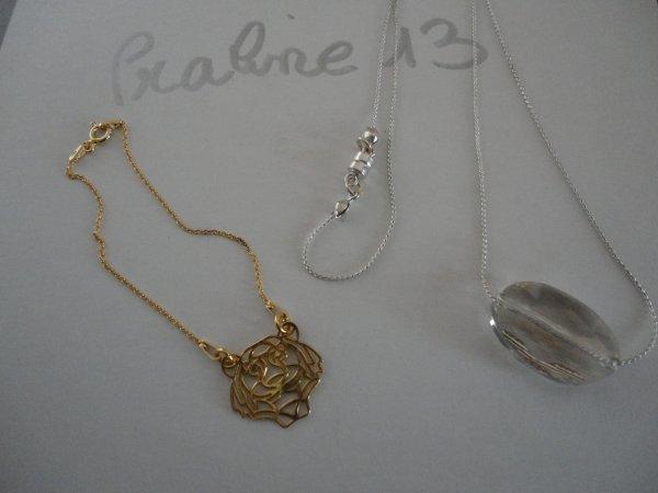 voici les cadeaux que j'ai offerts à mes cousines stéphanoises....en crystal et plaqué or...