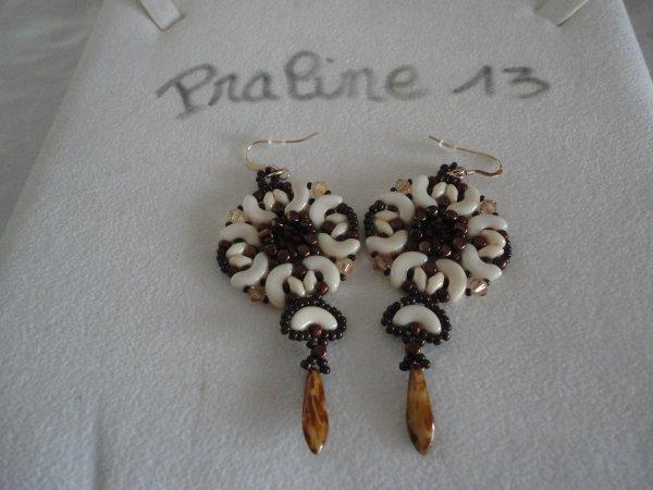 j'ai commencé l'année 2017 en faisant deux paires de boucles d'oreilles de Puca, que j'ai offertes à deux amies...les voici...