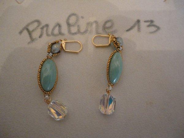 Ma dernière paire de boucles d'oreilles finie le 31 décembre. Merci Puca Annick pour cette magnifique création AKINA...