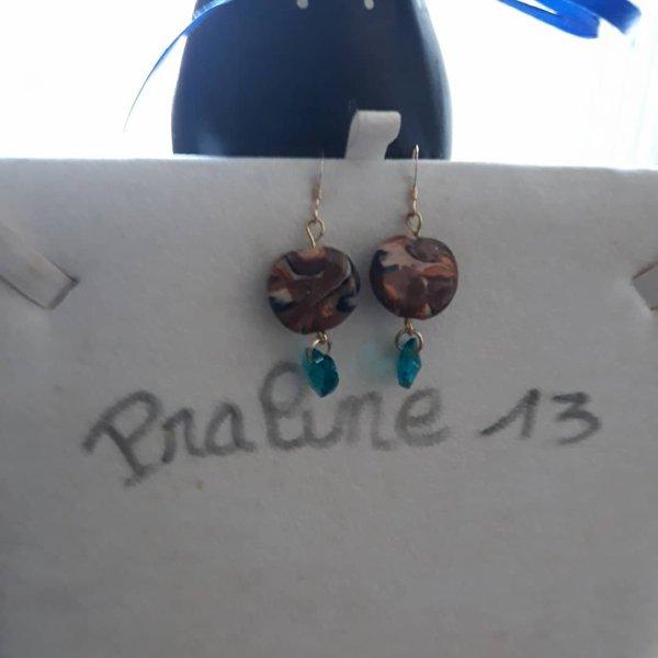 J'ai fait de la fimo il y a quelques années, notament des perles que j'ai associées avec des coeurs en swaro...Voici ma création