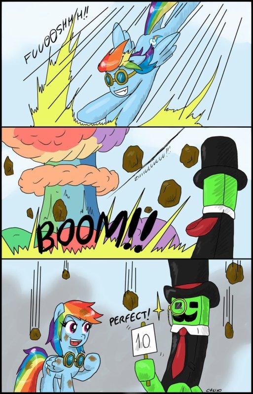 MLP x Minecraft - Rainbow Dash x Creeper //LOL//