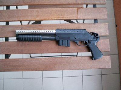 mon fusil à pompe chromé