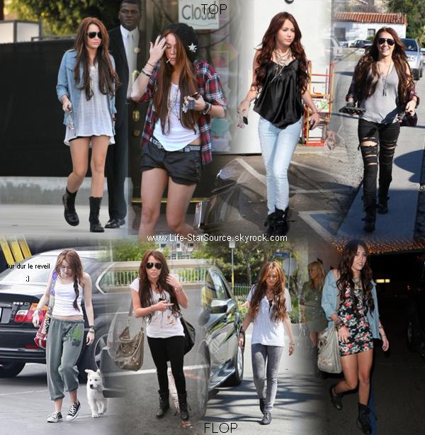 Mes tops et Flops de Cyrus au mois de Janvier 2010.    Le problème avec Miley c'est qu'un jour je vais adorer ce qu'elle va porter et l'autre ben je vais detester .