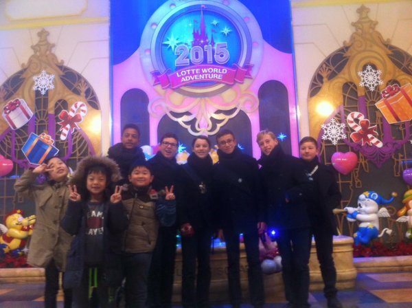 Les Petits Chanteurs à la Croix de Bois en Corée du sud   en décembre 2015