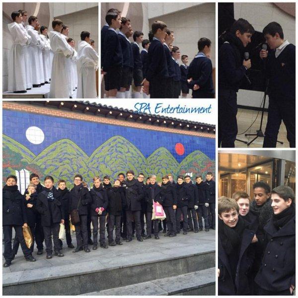 Les Petits Chanteurs à la Croix de Bois -  le shopping dans insadong ; concert à église catholique en Corée du sud le 20 decembre 2015