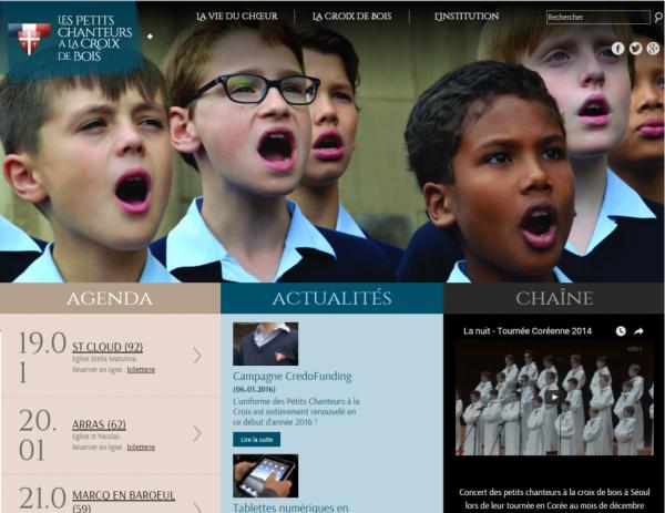 Les Petits Chanteurs à la Croix de Bois - Nouvelle présentation du site internet de la Manécanterie