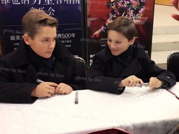 Les Petits Chanteurs à la Croix de Bois -Tournée  en Chine en  novembre  2016
