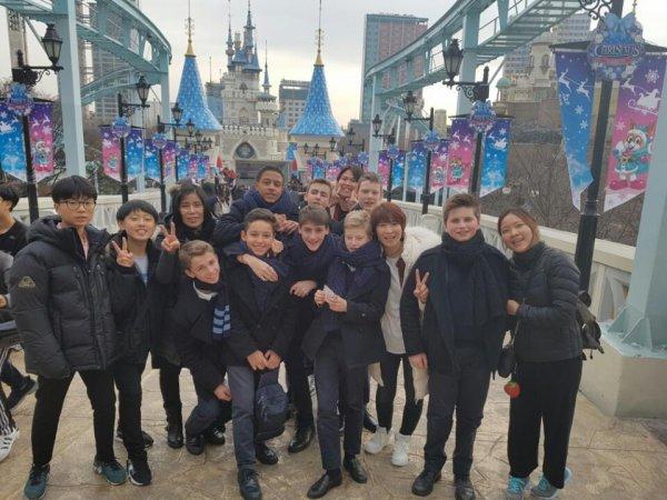 Les Petits Chanteurs à la Croix de Bois - Jour de repos et détente pour le Ch½ur à Voix Mixtes en Corée du sud en décembre 2016