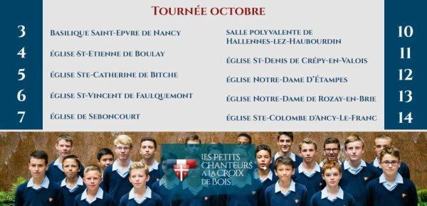 Tournée d'octobre des Petits Chanteurs