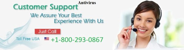 Online Antivirus installation is available at 1-800-293-0867