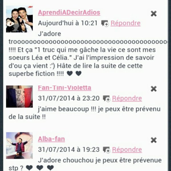 Vos commentaires *_* ❤