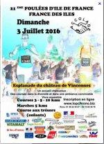 Les Foulées des Iles (75) - Dimanche 03 juillet 2016 - Comme photographe !