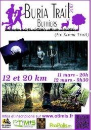 Le samedi 11-03-2017 Buria Noc Trail (Buthier 77) 75 arrivants - 12 Km