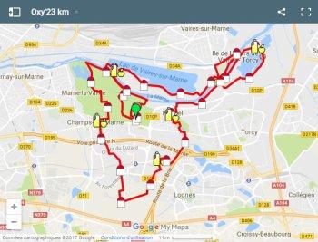 Vendredi soir la Sénartaise !! Dimanche 25 juin 2017 - 23km  Oxy Trail au Parc de Noisiel !!