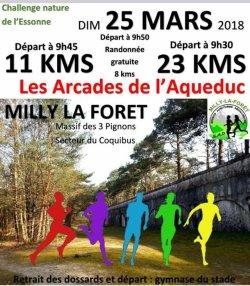 Trail des Arcades l'aqueduc à Milly la forêt - Edition 25 / mars / 2018