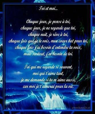 Poeme Damour Pour Ma Cherie Toi Et Moi Forever