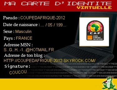 ● MA CARTE D'IDENTITE VIRTUELLE ●