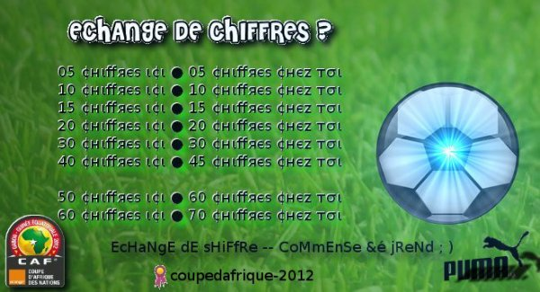 ● ECHANGE DE CHIFFRES ●