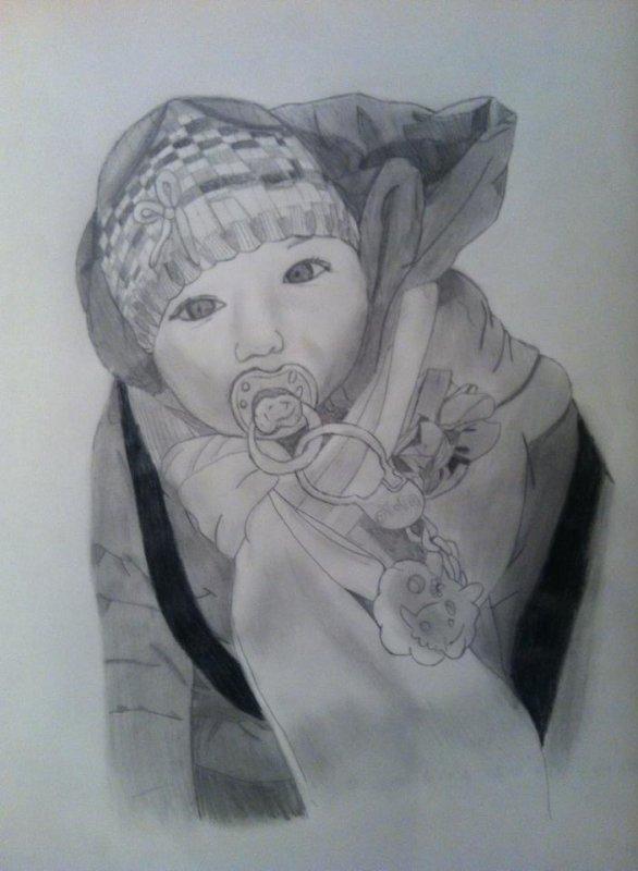 Un portrait de ma cousine :D