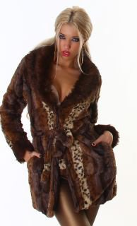 Manteau en fourrure synthétique