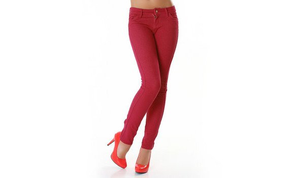 Jegging rouge