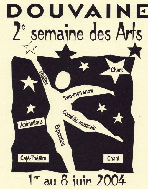 Programme Semaine des Arts 2004 à DOUVAINE