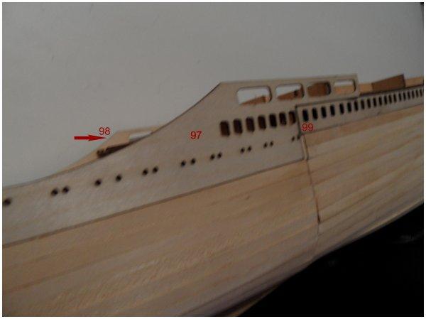 Maquette paquebot FRANCE - étape 28