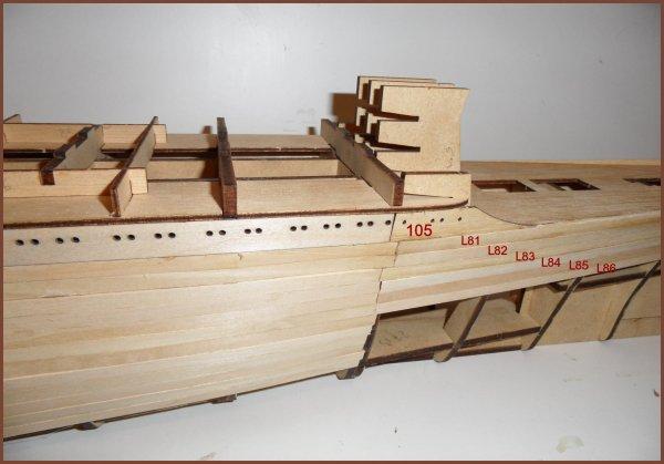 Maquette Paquebot FRANCE - étape 30