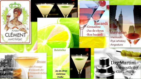 Cocktails et Barman