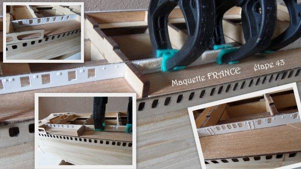 Maquette paquebot FRANCE - étape 43
