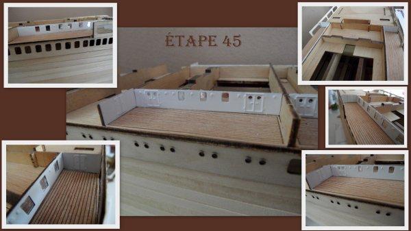 Maquette Paquebot FRANCE - étape 45