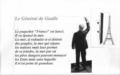 Extait du discours du Général de Gaulle