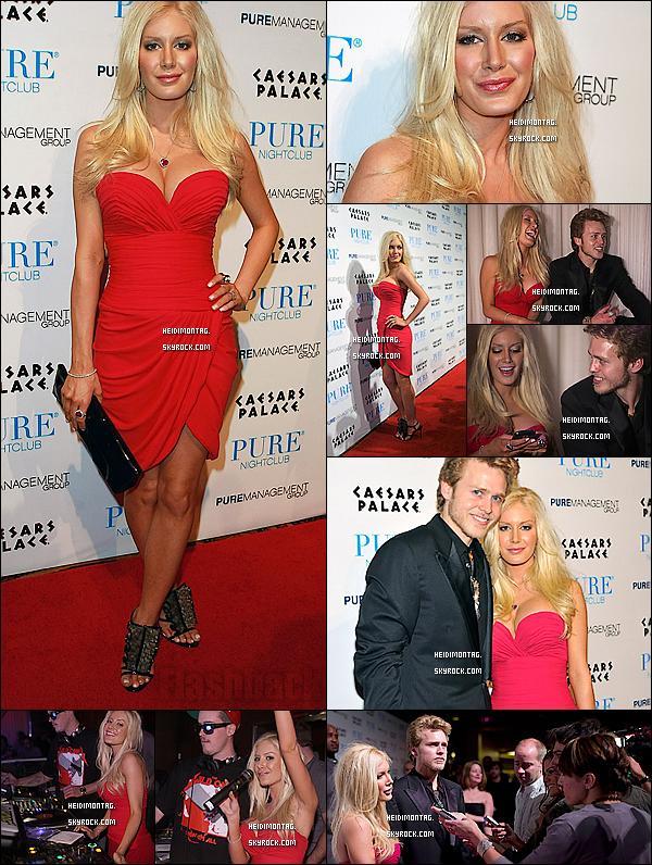 """. 15/02/10_-Heidi M. était sur le red carpet de la boîte """" Pure """" à  Las  Vegas_.-.Tu aimes sa tenue ?Elle portait de jolie Louboutins ouvert ainsi et une magnifique robe rouge qui mettait en valeur le sublime corps d'Heidi ! ."""