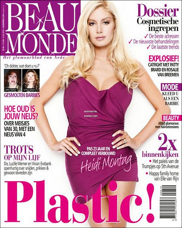 """. Heidi Montag fait la couv' d'un mag' allemand ; """" Beau Monde """". Tu aimes cette couv' ? + Heidi sera présente le 15 septembre 2011, à la boîte Pure à Las Vegas pour fêter son 25ième anniversaire avec Spencer , Hâte ?!   ."""