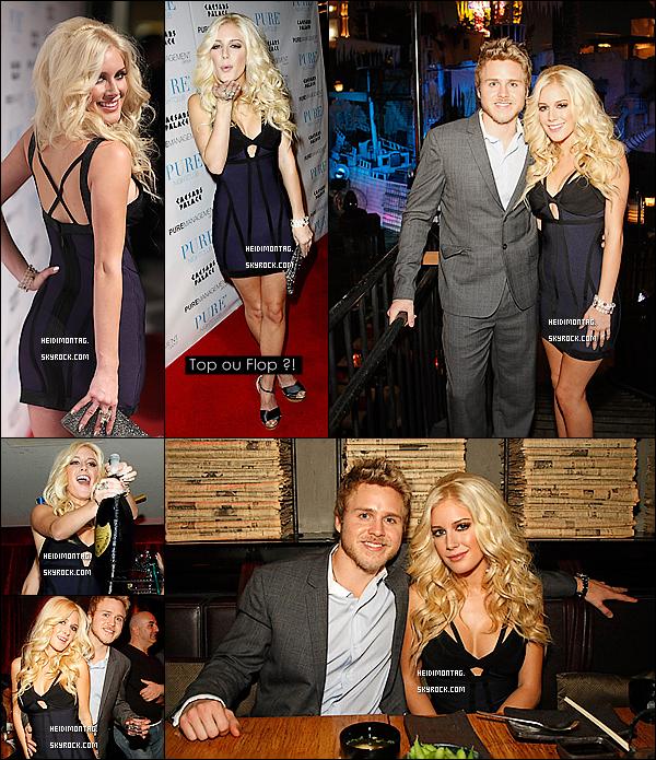 . 01/01/09_Heidi et Spencer Pratt étaient au réveillon du Nouvel An 2008-2009 chez Christian Audigier. La soirée se déroula dans un des night-club du célèbre styliste et Jet-setteur Christian Audigier  , et amie du couple à Las Vegas. .