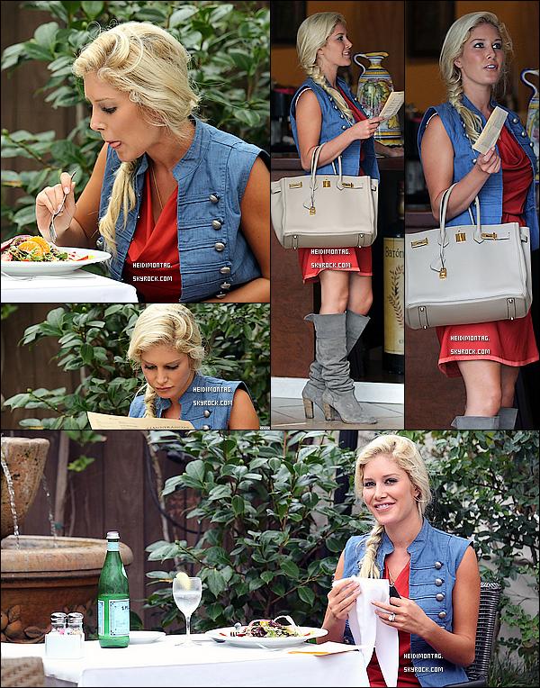 . 14/10/10-Heidi Montag faisait du shopping  à West Hollywood avant de dejeûner dans un resto's  italien. Il ne reste plus que 2 jours avant l'anniversaire de Heidi ! La concernée les fêtera à Las Vegas  au Vanity Club avec des ami(e)s!  .
