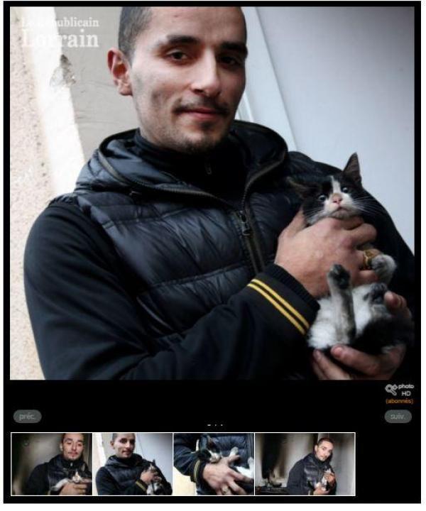 Sauvé des flammes par Pussy, un chaton de 6 mois