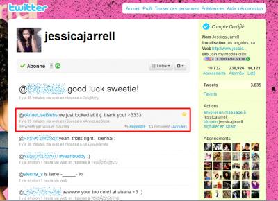 Jessica connait le blog JarrellRangers-JJ désormais. :D