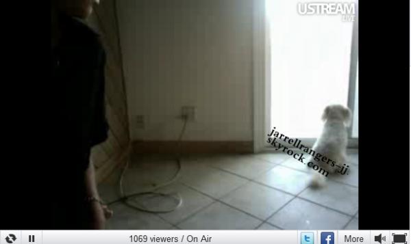 10 avril 2011 : Jessica à fait un ustream (Live chat).