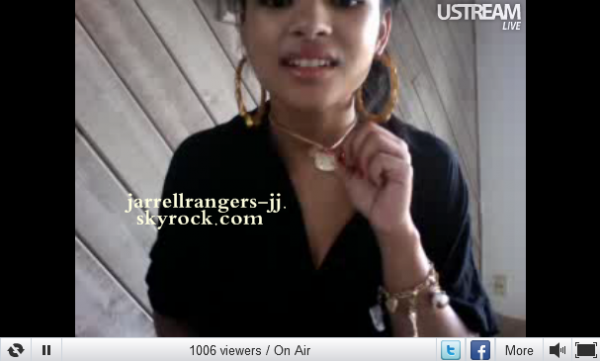 10 avril 2011 : Jessica à fait un ustream (Live chat).