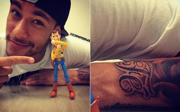 Nouveaux tatouages (Neymar)
