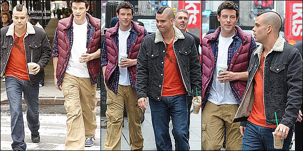 25 avril 2011 ~ Mark et ses co-stars était sur le tournage de Glee qui ce dérouler à New York CITY.