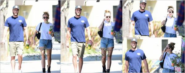 20.06.2018 : Miley Cyrus  et son chéri Liam Hemsworth sont allés s'acheter des boissons à Los Angeles