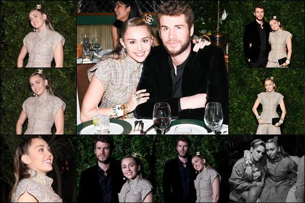 23.02.2019 :Miley et son mari Liam H. étaient au « Chanel Pre-Oscar Awards Dinner » situé à Los Angeles    C'est tout souriant que l'on retrouve nos jeunes mariés , Miley Cyrus a également posée aux côtés de Kristen Stewart !