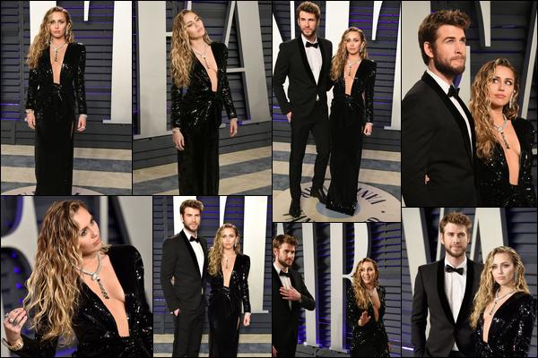 24.02.2019 :Miley et son mari Liam H. étaient présent aux « Vanity fair Oscar Party 2019 » à Beverly Hills    La cérémonie s'est déroulée au Wallis Annenberg Center , nos jeunes mariés sont très élégants - C'est un top pour moi