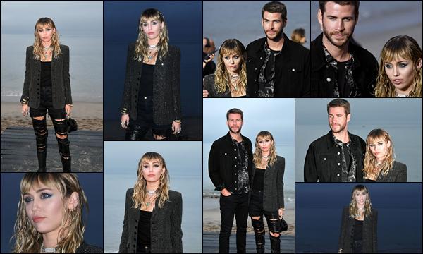 06.06.2019 :  Miley était au défilé de mode  « Yves Saint Laurent Men's Spring Summer 2020 » situé à Malibu   Miley était accompagnée de son mari Liam Hemsworth, J'aime la tenue de Miley qui était sublime et très élégante  !