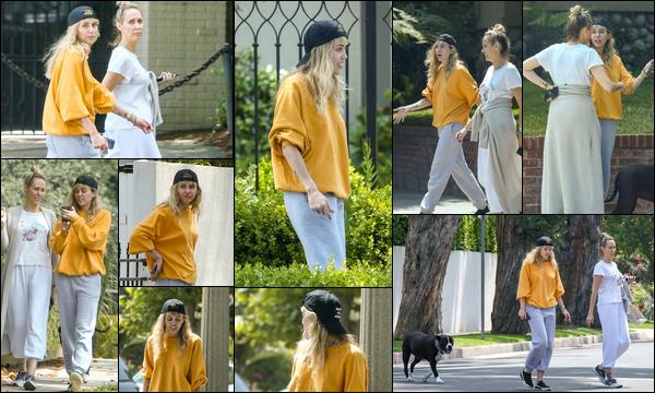 05.06.2019 :  Miley Cyrus a été aperçue promenant sa chienne Mary-Jane dans les rues de Los Angeles ...   Miley était accompagnée de sa maman Tish Cyrus dans une tenue très décontractée que je n'aime pas trop  !
