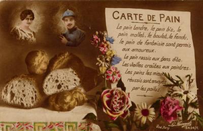 Carte de pain : extrait de ma collection de cartes postales anciennes